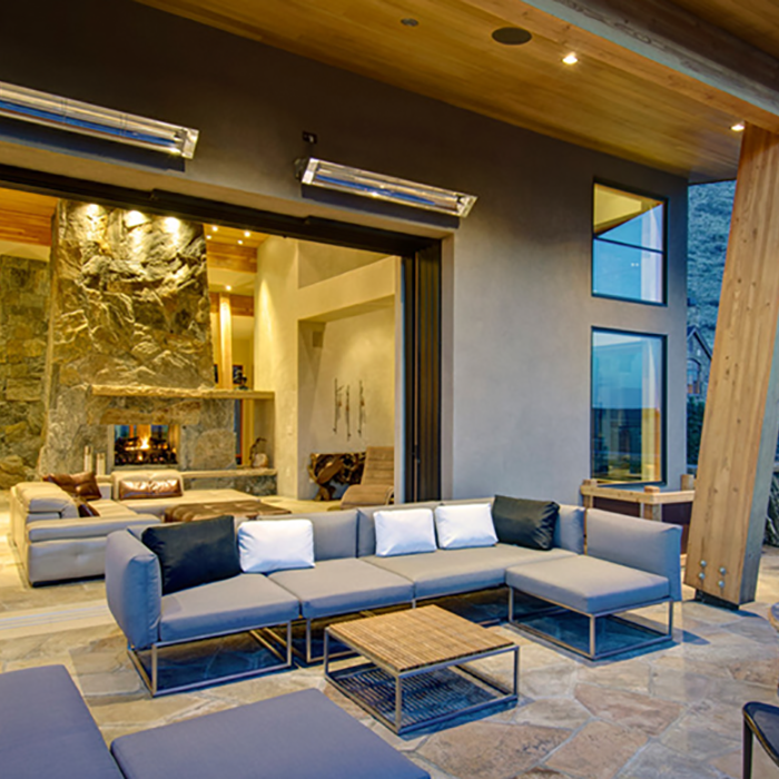 modern outdoor spaces patio heaters